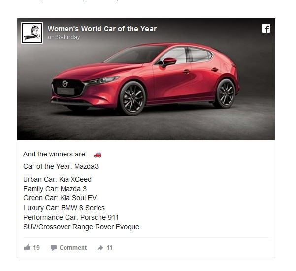 m3 - Мазда 3 - Women's World Car Of The Year