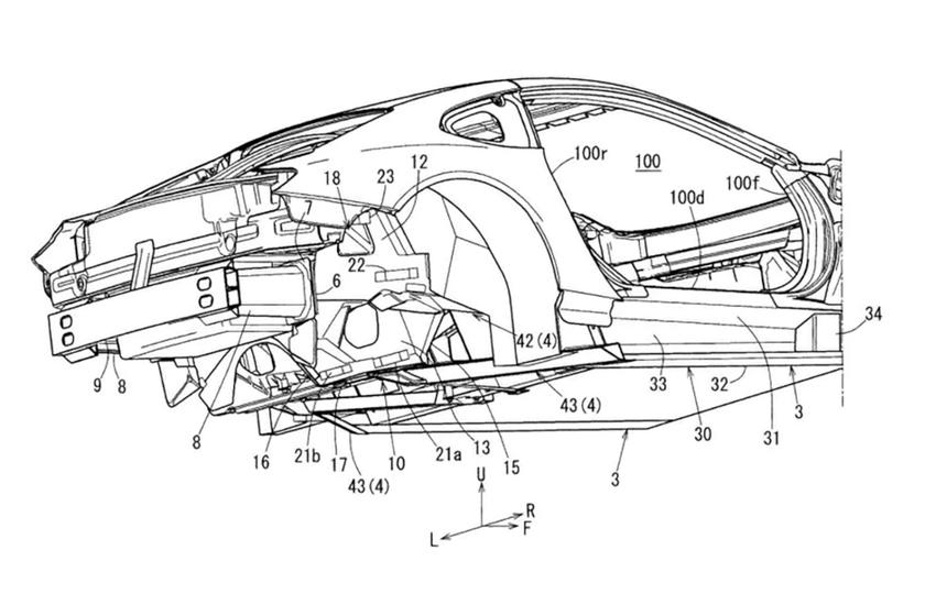 Патент на спортивный автомобиль от Mazda